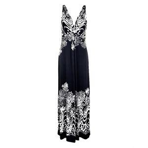 SOMA Claire Ethnic Border Black Casual Maxi Dress